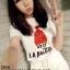 (SALE) เสื้อแฟชั่นน่ารัก หนูน้อยหมวกแดง แต่งเลื่อม สีขาว thumbnail 1