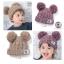 C96-93 หมวกไหมพรมกันหนาวสำหรับเด็ก ขนาดฟรีไซส์ ยืดได้เยอะ สำหรับเด็ก 3-10 ขวบ thumbnail 2