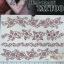 YM-K099 สติ๊กเกอร์สักแฟชั่น sticker tattoo ลายดอก 15.5x10.8 cm thumbnail 1