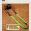 สายกล้องคล้องคอ - รุ่นกันลื่น ขนาด 25 mm สีเขียวหญ้า ปลายดำ thumbnail 6