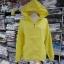 เสื้อคลุม แขนยาวผ้าร่ม มีฮูด ซิปหน้า สีเหลืองเรืองแสง thumbnail 2
