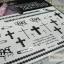 YM-K075 สติ๊กเกอร์สักแฟชั่น sticker tattoo ลายซิบ ไม้กางเขน 15.5x10.8 cm thumbnail 11