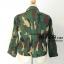 เสื้อคลุม ผ้าญี่ปุ่นพิมพ์ลายทหาร สีเขียวเข้ม อก 52 นิ้ว thumbnail 2