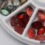 เม็ดพลาสติกลายหิน ทรงวงรี คละสี กล่องกลม thumbnail 5