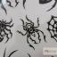 YM-X089 สติ๊กเกอร์ลายสัก tattoo ลายแมงมุม18 x 7 cm thumbnail 5