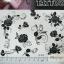 YM-K088 สติ๊กเกอร์สักแฟชั่น sticker tattoo ลายกุหลาบ โบ15.5x10.8 cm thumbnail 2