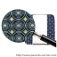 ผ้ารองเสริม Memory Foam สำหรับเปลี่ยนผ้าอ้อมแบบพกพา Ah Goo Baby - Blueberry thumbnail 3