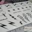 YM-K014 สติ๊กเกอร์สักแฟชั่น sticker tattoo ลายสายฟ้า 15.5x10.8 cm thumbnail 9