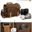 กระเป๋ากล้องหนังแท้ ผ้าแคนวาส มีหูหิ้ว Compact Window Bag Size M thumbnail 16