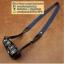 สายกล้องคล้องคอ - รุ่นกันลื่น ขนาด 25 mm สีน้ำเงิน ปลายดำ thumbnail 8