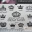 YM-K010 สติ๊กเกอร์สักแฟชั่น sticker tattoo ลายมงกุฎ 15.5x10.8 cm thumbnail 1