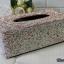 กล่องใส่ทิชชู่เพชร สีชมพูและสีขาวผสมสีรุ้ง กว้าง15 ยาว26 สูง10 เซนติเมตร thumbnail 2
