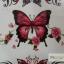 YM-X189 สติ๊กเกอร์ลายสัก tattoo ลายผีเสื้อ18 x 7 cm thumbnail 3