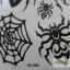 YM-X089 สติ๊กเกอร์ลายสัก tattoo ลายแมงมุม18 x 7 cm thumbnail 3