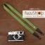 สายคล้องกล้อง cam-in สีพื้นเส้นเล็ก สีเขียวหญ้า แบบห่วง 25 mm thumbnail 1