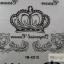 YM-K010 สติ๊กเกอร์สักแฟชั่น sticker tattoo ลายมงกุฎ 15.5x10.8 cm thumbnail 3