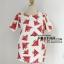 เสื้อ ผ้ามิรินพิมพ์ลายแตงโม สีขาว อก 44 นิ้ว thumbnail 1