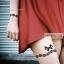 YM-K076 สติ๊กเกอร์สักแฟชั่น sticker tattoo ลายลูกไม้ โบ15.5x10.8 cm thumbnail 8