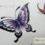 YM-X139 สติ๊กเกอร์ลายสัก tattoo ลายผีเสื้อ18 x 7 cm thumbnail 4