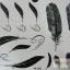 YM-K042 สติ๊กเกอร์สักแฟชั่น sticker tattoo ลายขนนก 15.5x10.8 cm thumbnail 1