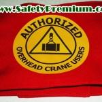 ปลอกแขน Authorized Overhead Crane Users สกรีนเฟล็กซ์1