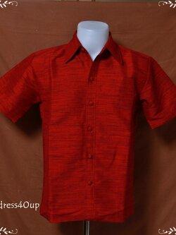 เสื้อผ้าไหมญี่ปุ่นสีแดง XXL NS060-15