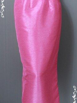 กระโปรงผ้าไหมเทียม XL เอว 29-32 นิ้ว P146
