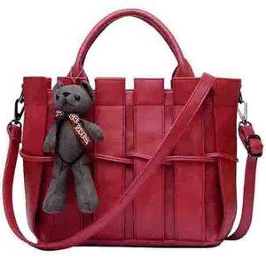 ***พร้อมส่ง*** กระเป๋าแฟชั่นสตรี รหัส BB-0706 (B2-136) สีแดง สไตล์เกาหลี สำหรับ สุภาพสตรีทันสมัย ราคาไม่แพง