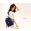พร้อมส่ง-กระเป๋าเป้สะพายหลังฉลุลูกไม้ สไตล์เกาหลี สีน้ำเงิน
