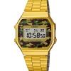 นาฬิกา คาสิโอ Casio STANDARD DIGITAL Vintage Gold Camouflage รุ่น A168WEGC-3 สีทองหน้าปัดลายพรางทหาร (ไม่มีขายในไทย) ของแท้ รับประกัน 1 ปี