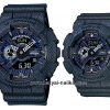 นาฬิกา คาสิโอ Casio G-Shock SETคู่รัก Denim Color รุ่น GA-110DC-1A x BA-110DC-2A1 Pair set ของแท้ รับประกัน 1 ปี