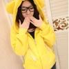 พร้อมส่ง--เสื้อกันหนาวหมวกหูหมี สีเหลือง