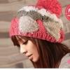พร้อมส่ง-หมวกไหมพรม สีแดง