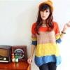 Pre-เสื้อถักไหมพรมเกาหลี สีสันสดใส