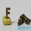 """จี้ตัวอักษร สีทองรมดำ แบบสอด รูปตัว """"F"""""""