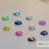 มุกติดเล็บ รูปวงกลม เหลือบรุ้ง คละ12 สี ขนาด 5 มิล
