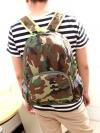 [สีทหาร] กระเป๋าเป้สะพายหลัง Backpack แฟชั่นเกาหลีทั้งผู้ชายและผู้หญิง
