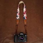 สายกล้องคล้องคอลายธงชาติอังกฤษ British Flag สายนุ่มพิเศษ