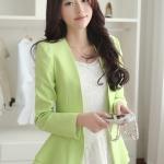 พรีออเดอร์ เสื้อสูท Blazer สีเขียว มีไซด์ S/M/L/XL