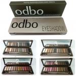 Odbo Eyeshadow กล่องเหล็ก พาเลตแต่งตา