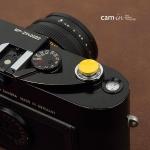 Soft Shutter Release ปุ่มเว้าลง สีเหลือง กดง่ายสะดวก สำหรับ Fuji XT10 X10 X20 X30 X100 XE1 Leica ฯลฯ