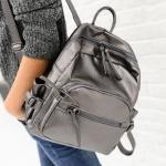 [สีเทา] กระเป๋าเป้โน๊ตบุ๊ค สะพายหลังขนาดใหญ่ ทั้งผู้ชายผู้หญิง