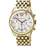 นาฬิกา Michael Kors ไมเคิล คอร์ รุ่น MK5835 Pressley Chronograph White Dial Gold-tone Ladies Watch