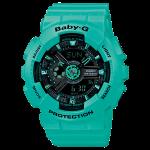 นาฬิกา คาสิโอ Casio Baby-G Girls' Generation Street Neon Duo Color series รุ่น BA-111-3A สีมิ้นท์
