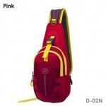 กระเป๋าสะพายข้าง-คาดหน้าอก D02N สีชมพู