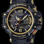 นาฬิกา Casio G-SHOCK นักบิน GRAVITYMASTER GPS Hybrid Wave Captor Black & Gold series รุ่น GPW-1000GB-1A ของแท้ รับประกัน1ปี (CMG)