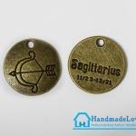 จี้โลหะ สีทองรมดำ ราศีธนู (Sagittarius Zodiac)