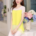 พรีออเดอร์ เสื้อ สีเหลือง มีไซด์ S/M/L/XL/XXL