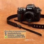 สายคล้องกล้อง cam-in หนังแท้ Splendid Genuine Leather สีดำ