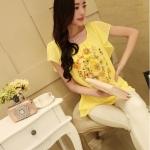 พรีออเดอร์ เสื้อผ้าชีฟอง สีเหลือง มีไซ์ M/L/XL/XXL